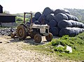 Tractor and silage at Slaughterford - geograph.org.uk - 445756.jpg