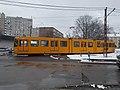 Tram 1528 at Szent Korona útja and Vasutastelep utca intersection, 2018 Rákospalota.jpg