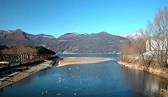Tresa - The mouth of the Tresa at Luino and Germignaga