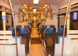 Wiese Valley Railway - Interior of a Flirt on the Wiese Valley Railway