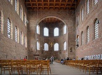 Aula Palatina - Interior view facing north