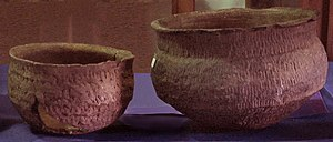 Guaraní people - Guaraní incised ceramics bowls, Museum Farroupilha, in Triunfo
