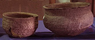 Guaraní people - Guaraní incised ceramics bowls, Museum Farroupilha, in Triunfo.