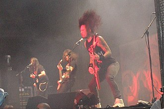 Metalcore - Metalcore band Trivium live in 2008