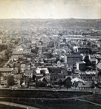 History of Troy, New York - Image: Troy, NY Before the fire of 1862