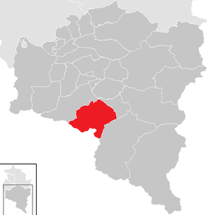 Location of the Tschagguns community in the Bludenz district (clickable map)