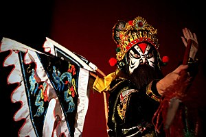 Hát tuồng - The make-up of an actor can reveal the character's personalities.
