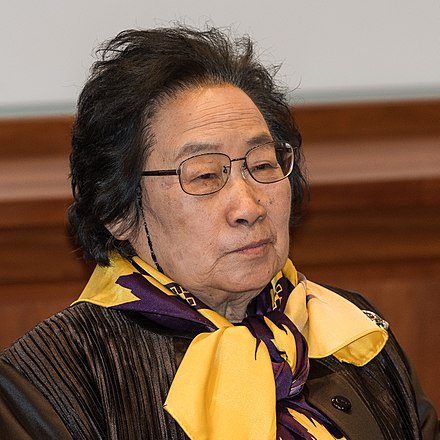Chinese traditional Chinese medicine researcher Tu Youyou received the Nobel Prize for Physiology or Medicine in 2015 for her work on the antimalarial drug artemisinin. Tu Youyou 5012-1-2015.jpg