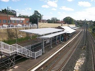Turrella railway station - Westbound view in December 2011