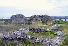 Photo de ruines romaines de Drobeta-Turnu Severin.