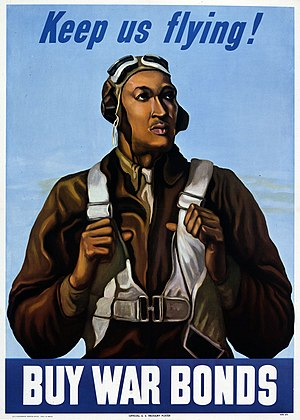 United States Army Air Forces - Tuskegee Airmen War bonds poster