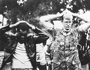 Iran hostage crisis - Two American hostages during the siege of the U.S. Embassy.