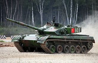 Tank biathlon - A Chinese Type 96A at the 2015 tank biathlon