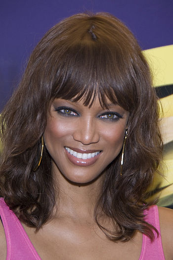 English: Tyra Banks, Santa Monica, CA on Septe...