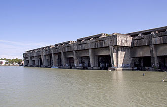 BETASOM - Remains of U-boat pens in Bordeaux (2009)