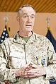 U.S. Marine Corps Gen. Joseph F. Dunford Jr., the outgoing commander of the International Security Assistance Force and U.S. Forces-Afghanistan, delivers remarks during a change of command ceremony in Kabul 140826-D-HU462-389.jpg