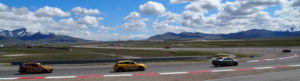Pirelli World Challenge - 2011 GTS and Touring cars brake after first straight, Miller Motorsports Park