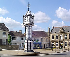UK DownhamMarket (ClockTower).jpg