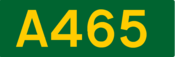 A465 road shield