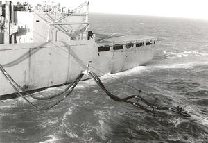 USS Camden (AOE-2) - USS Camden refueling USS Chicago (CG-11) during the Vietnam War.