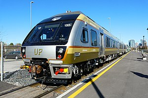 Union Pearson Express - A Nippon-Sharyo DMU at Mimico GO Station