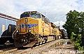 UP 7407 Leads EB Intermodal Olathe, KS 5-20-17 (34722134971).jpg