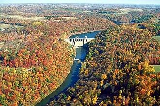 Mahoning Creek (Allegheny River tributary) - Mahoning Creek Lake and Dam on Mahoning Creek in Armstrong County, Pennsylvania