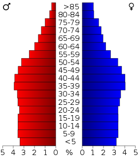 USA Tennessee age pyramid.svg