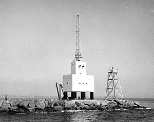 Long Beach Light - Robot Light, taken 1949 by U.S. Coast Guard Archive