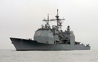 USS Antietam (CG-54) - Image: USS Antietam (CG 54) underway 2004