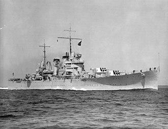 USS Boise (CL-47) - Image: USS Boise (CL 47) underway 1938