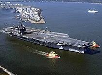 USS John F. Kennedy (CV-67) departs Naval Station Mayport on 11 November 2003.jpg