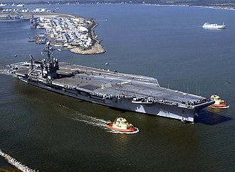 USS John F. Kennedy (CV-67) - Image: USS John F. Kennedy (CV 67) departs Naval Station Mayport on 11 November 2003