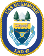 USS Rushmore LSD-47 Crest.png