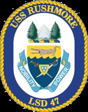 USS Rushmore (LSD-47) - Image: USS Rushmore LSD 47 Crest