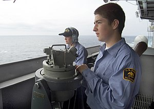 United States Naval Sea Cadet Corps - USNSCC cadets at sea in July 2002.
