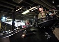 US Navy 030628-N-2972R-090 U.S. Marines assigned to the Second Marine Expeditionary Brigade (2nd MEB) embarked aboard USS Kearsarge (LHD 3) drive a Light Armored Vehicle (LAV) in the ship's well deck to load onto an LCAC from A.jpg