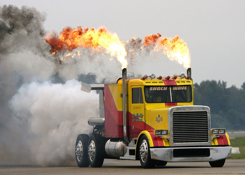 File:US Navy 030906-N-4459K-060 Shockwave, the world's fastest truck, dazzles the crowd.jpg