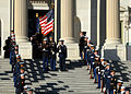 US Navy 070102-N-0773H-031 The Joint Service Honor Guard carries the casket of former U.S. president Gerald R. Ford during the departure ceremony on the east steps of the U.S. Capitol following the conclusion of the public fune.jpg