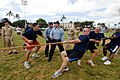 US Navy 070119-N-4965F-035 Sailors assigned to Oliver Hazard Perry-class guided-missile frigate USS Crommelin (FFG 37) are encouraged by their shipmates as they compete in a tug-o-war competition.jpg