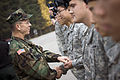 US Navy 071105-N-0696M-301 Chairman of the Joint Chiefs of Staff, Adm. Mike Mullen greets soldiers after a tour of the Demilitarized Zone separating North and South Korea.jpg