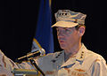 US Navy 080705-N-9909C-005 Vice Adm. Kevin Cosgriff addresses guests during a change-of-command ceremony at Naval Support Activity Bahrain.jpg