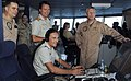 US Navy 090327-N-6639M-056 Rear Adm. Terence McKnight and Capt. Mark Cedrun visit the Royal Danish Navy command and support ship HDMS Absalon (L16) during counter-piracy operations.jpg