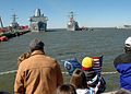 US Navy 100218-N-4345B-048 Family and friends look on as USS Donald Cook (DDG 75) arrives at Naval Station Norfolk following a seven-month deployment.jpg
