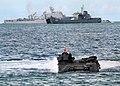 US Navy 100520-N-8377A-173 A U.S. Marine Corps amphibious assault vehicle from the amphibious dock landing ship USS Tortuga (LSD 46) makes its way to shore.jpg