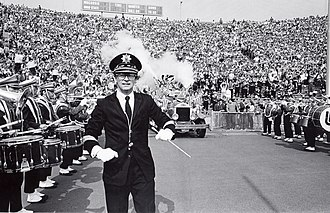 Michael Leckrone - Mike Leckrone with the UW Band, circa 1979