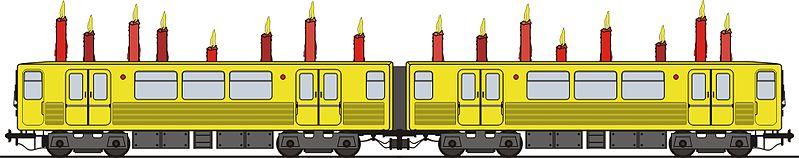 Venir à Berlin en train avec des bougies dessus.