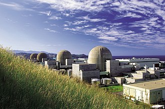 The Hanul Nuclear Power Plant in South Korea, as of 2019 the second highest generating output in the world, by means of operating six power reactors with two additional indigenously-designed APR-1400 generation-III reactors under construction. South Korea exported the APR design to the United Arab Emirates, where four of these reactors are under construction at Barakah nuclear power plant. Ulchin (now Hanul) 04790182 (8506930230).jpg