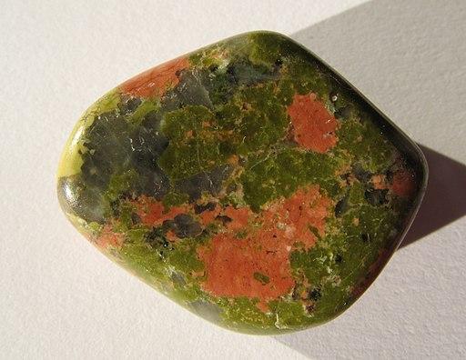 Unakit - tumble polished stone