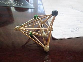 7-simplex - Image: Uniform polytope 3,3,3,3,3,3 t 0